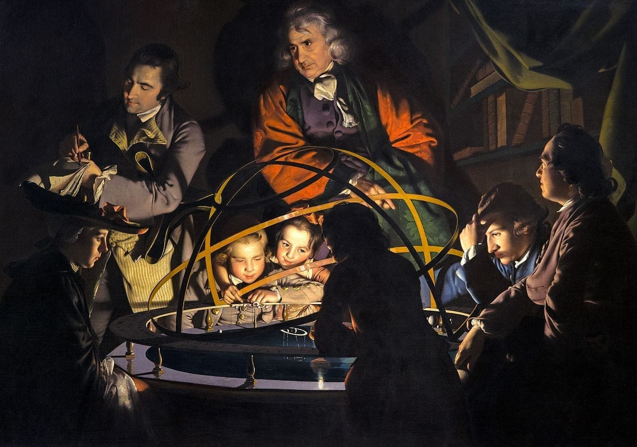 Joseph Wright of Derby, A Philosopher Giving A Lecture at the Orrery, c. 1765